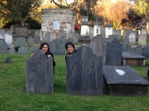 Hanging out in a Charleston, SC cemetary